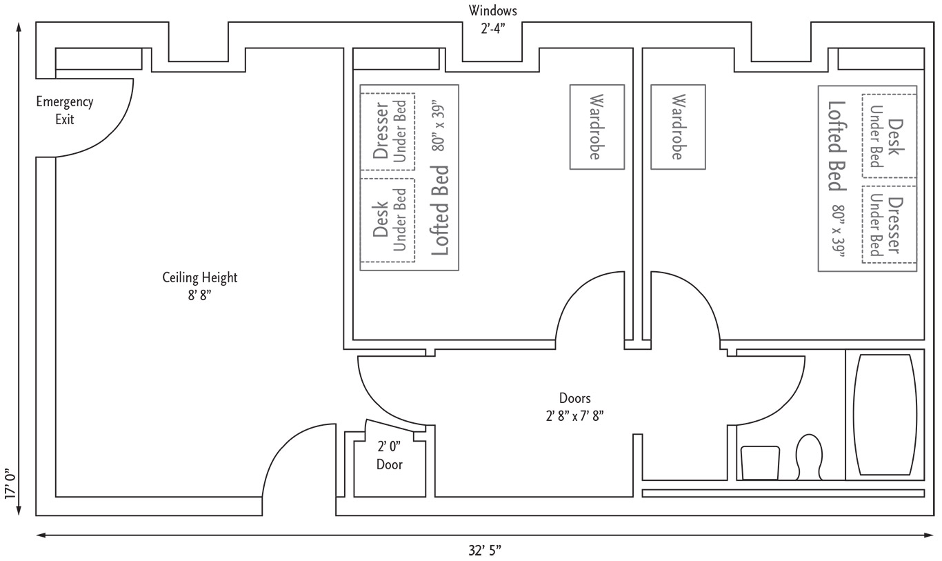 Holmquist Hall Suites Layout